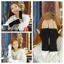 Fashion Women Men Arm Warmer Long Fingerless Knit Mitten Winter Gloves ST23
