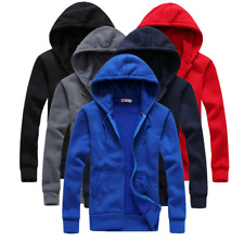 Mens  Hooded Hoodie Sweatshirt Tops casual with hood jacket men coat