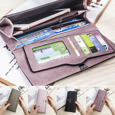 Women Long Leather Wallet Lady Mobile Credit Card Holder Purse Handbag Clutch
