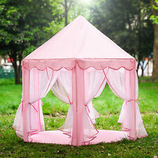 Pink Girls Princess Castle Play House Large Boys Indoor/Outdoor Kids Play Tent