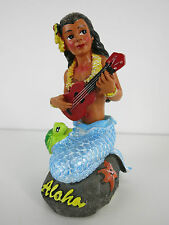Dashboard Doll Mermaid Rockabilly Hawaii Kustom Kulture Turtle Ukulele Wobbler