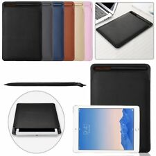 """Luxury PU Leather Sleeve Case Cover Pouch+Pen For iPad Pro 9.7"""" 10.5"""" Pen Holder"""