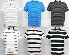 TOMMY HILFIGER MENS POLO STRIPED THICK PIQUE T-SHIRT RUGBY FLAG LOGO COLLAR NWT
