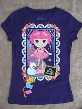 Lalaloopsy Purple T-shirt 6/6X with Tippy Tumbelina doll & pet Swan NEW