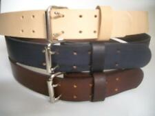 """1.1/2"""" WIDE HEAVY DUTY HAND MADE LEATHER WORK GUN TOOLS HOLSTER 2 PRONG BELT"""