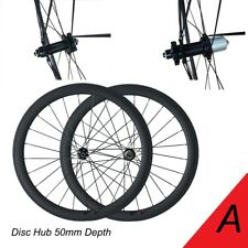 50mm Depth 700C Clincher Disc Brake Wheelset Road Bike Bicycling Carbon Wheelset