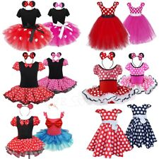Baby Kids Girl Minnie Mouse Polka Dots Dress Tutu Skirt Party Ballet Costume Set