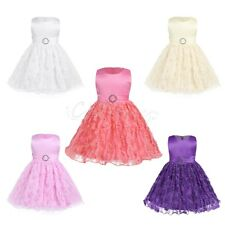 Infant Baby Lace Flower Girl Princess Tutu Dress Pageant Wedding Birthday Party