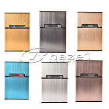 Smokers Cigarette Storage Case - Metal with Magnetic Clasp