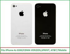 NEW iPhone 4S Back Glass Door Battery Cover Verizon Sprint AT&T T-Mobile A1387