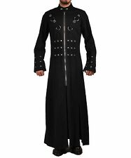 HANDMADE MEN HELLRAISER GOTH PUNK INDUSTRIAL VAMPIRE JACKET TRENCH COAT