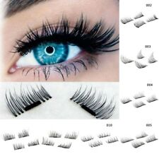 4 pcs Black 3D Magnetic False Eyelashes Handmade Natural Extension Eye Lashes