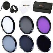 52 58 62 67 72 77mm UV CPL FLD ND2 ND4 ND8 Filter Kit For Canon Nikon Sony DSLR