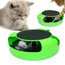 Cat Play Toy Rotating Mouse Kitten Toy Pet Kitten Catch The Moving Mouse Plush