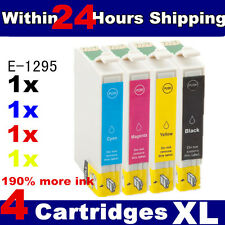 4 Ink Cartridges Replace for Stylus Office SX BX WF Inkjet Series Printer