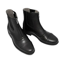 1 Pair Horse Riding Boots Leather Jodhpur Paddock Boots Waterproof Black