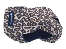 FEMALE DOG SEASON PANTS / NAPPY / HEAT / URINE INCONTINENCE DIAPER - LEOPARD