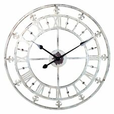River City Clocks Tower Wall Clock with Fleur-de-lis - 24 diam. in.