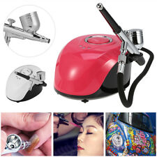 New Single-Action AirBrush Air Compressor Kit Craft Cake Hobby Tattoo Nail Art