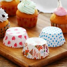 100Pcs Colorful Rainbow Paper Cake Cupcake Liner Baking Muffin Box Cup Case Part