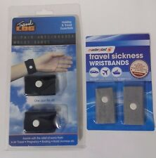 ANTI NAUSEA/ TRAVEL SICKNESS WRIST BANDS 1 PAIR HOLIDAY AND TRAVEL ESSENTIALS