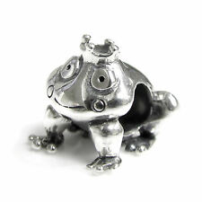 Sterling Silver Fairy Tales Lovely Frog Prince Bead for European Charm Bracelets