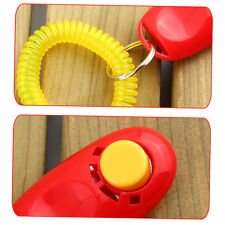 Dog Pet Click Clicker Training Obedience Agility Trainer Aid Wrist Strap OL