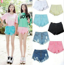 Women's High Waisted Jeans Shorts GIRLS Washed Ripped Short Mini Denim HOT Pants