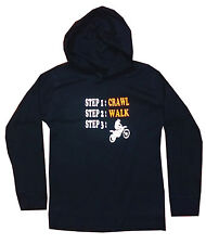 BABYS BLACK UNISEX MOTOCROSS LIGHTWEIGHT HOODIE AGE 0/3 & 3/6 MTHS AVAILABLE NEW
