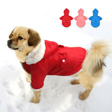 Winter Warm Padded Dog Clothes Fleece Pet Dog Hoodie Coat Jacket for Small Dogs