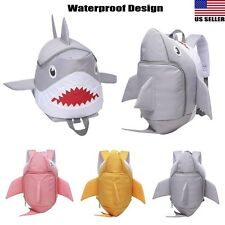Toddler Kid Children 3D Cute Shark Backpack Kindergarten Schoolbag Travel Bag US