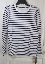 NWT WOMENS TOMMY HILFIGER SPORT STRIPED WAFFLE KNIT LONG SLV SWEATER SHIRT M, L