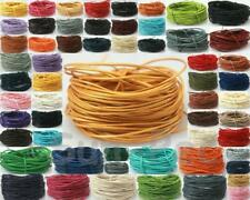 Genuine Round Real Hide Leather String Rope 1mm 2mm for Leather Finishes Jewelry