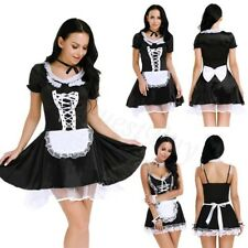 Women's Cosplay French Apron Maid Fancy Dress Costume