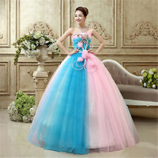 2017 New Organza Sweetheart Bridal Ball Gown Proms Wedding Dress Evening Party