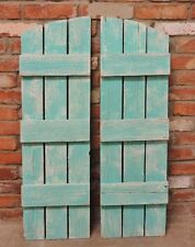 NEW RUSITC BARNWOOD SHUTTERS FOR 9 PANE ARCHED FARMHOUSE WINDOW MIRROR DECOR