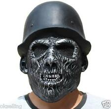 Novelty Captain SKULL Soldier Latex Head Mask Fancy Dress Halloween prop costume