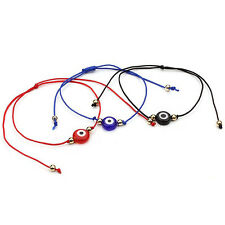 Charm Unisex Faux Eye Ball Bracelet Rope Braid Friendship Bangle Gift up-to-date