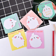 1X Cute Rabbit Sticky Notes Sticker Bookmarker Memo Pad Home Office Class 3C