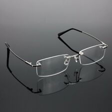 Unisex Rimless Glasses Lightest Rx Optical Eyeglasses Memory Titanium Spectacles