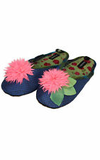 "NEW Goody Goody Bon Bon comfy Silk Slippers ""Neon"" Womens sz Small - Large"