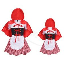 Girls Little Red Riding Hood Fancy Dress Costume Kids Fairytale Storybook Outfit
