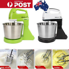 Electric Hand Mixer 7 Speed Stand Countertop Egg Beater Kitchen Stainless Steel