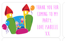 PERSONALISED STICKERS LABELS ADDRESS PARTY SWEETIE CONES BOUNCY CASTLE