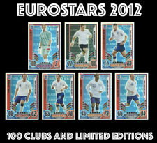 TOPPS MATCH ATTAX EUROSTARS 2012 100 CLUBS AND LIMITED EDITIONS