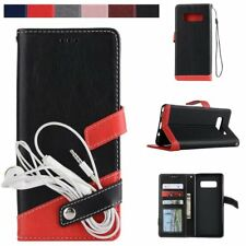 Fashion Magnetic Stand Flip Leather Wallet Case Cover For Samsung Galaxy Note 8