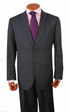 Mens Suit 2 Button 2 Side Vent 100% Wool  Pant,Flat Front. Col. Gray Striped 212