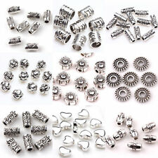 Lots 50/100pcs Tibet Silver Plated Loose Spacer Beads Charms Jewelry Making DIY