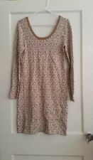 NEW WOMENS L  BANANA REPUBLIC CHEETAH PRINT SWEATER KNIT DRESS NWT