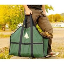 Firewood Log Carrier Holder Heavy-duty Tote Bag Durable Portable 16 OZ Green New